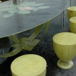 custom table, with mosaic top